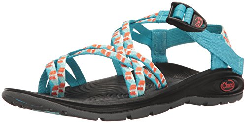 Chaco Women's Zvolv X2 Athletic Sandal, Prism Cyan, 5 M US