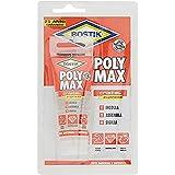 BOSTIK Poly Max Cristal Express colla di montaggio e sigillante universale super rapido e super forte, 100% cristallino blister 75g trasparente