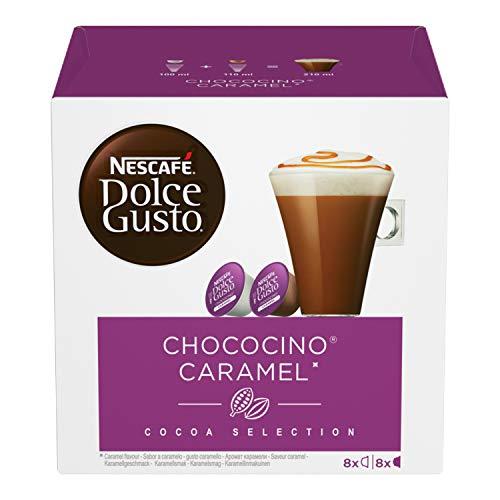 Nescafé Dolce Gusto Chococino Caramel Cioccolata al Caramello, 3 Confezioni da 16 Capsule (48 Capsule)