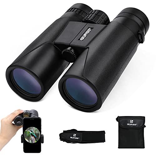 Fernglas 12x42 Kompaktfernglas für Vogelbeobachtung mit Mobiltelefonadapter für Vogelbeobachtung, Reisen, Landschaft, Sternenhimmel, Jagd, Konzerte