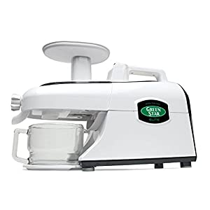 Green Star GSE-5300 Juicer with Jumbo Twin Gears, White |