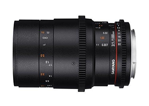 Samyang lens voor Nikon 100 mm T3.1 zwart