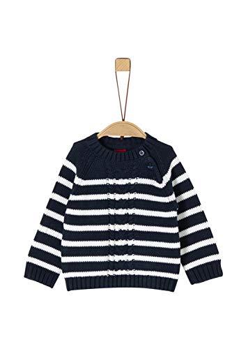 s.Oliver Baby-Jungen 65.911.61.2248 Pullover, Blau (Dark Blue Knit 59g8), (Herstellergröße: 80)