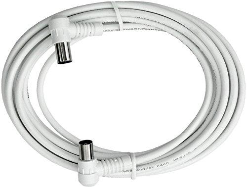 Axing Antennen cable de conexión [1x Antennenmacho 75-1x Antennenhembra 75 ] 3.75 m 85 dB blanco Ax