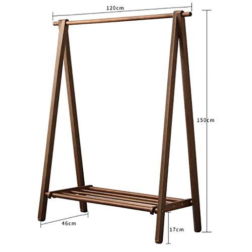 Perchero de pie Percha de pintura plegable ecológica, perchero de madera de madera de madera, perchero de secado de ropa simple de 150 cm, puede soportar alrededor de 100 kg.Colgador de dormitorio mod