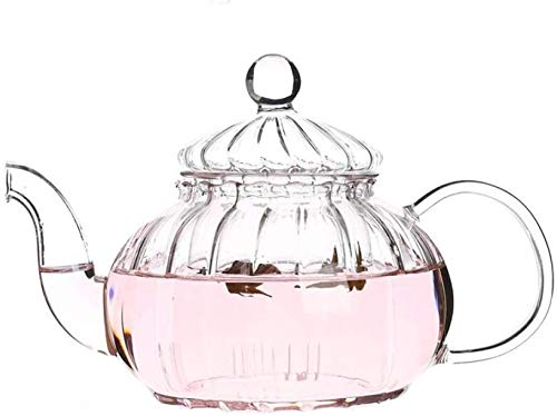 Bouilloire induction Théière à la cuisine Théière à rayures de la citrouille de la citrouille Théière à théière théière théière théière théière résistant à la chaleur pot de thé de thé à la maison pou