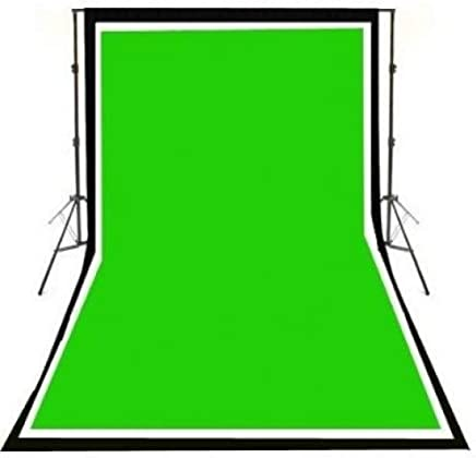 ePhotoinc Photography Photo Background Stand Backdrop Support System Kit 10 x 10 Cotton Green Chroma Key Photo Studio Muslin Backdrop Background H41010G