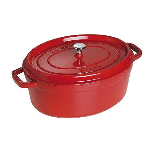 STAUB Cocotte en Fonte, Ovale 33 cm, 6,7 L, Rouge Cerise