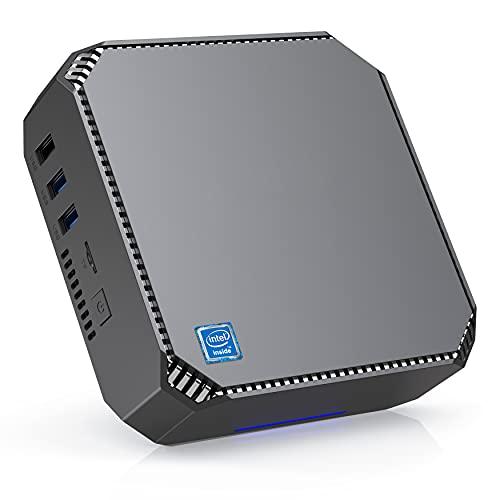 Mini-PC Windows 10 Pro, Intel Celeron J3455 Prozessor, 8 GB RAM 256 GB ROM Mini-Computer-Unterstützung Triple Display2.4G/5,0G WiFi/Bluetooth 4,2