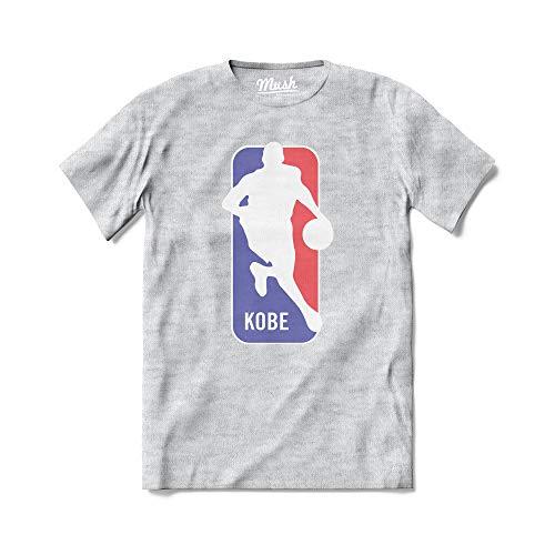 MUSH T-Shirt Kobe Logo NBA Forever 24-100% Cotone Organico, 12-14 Anni, Grigio Sport