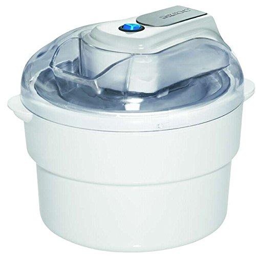 elektrische Eismaschine für bis zu ca. 1 kg Eis Sorbet Eis-Torte Slush-Eis Softeis Sahneeis Joghurteis Fruchteis Eiscreme Speiseeis (sparsame 12 Watt + Deckel mit Nachfüllöffnung)