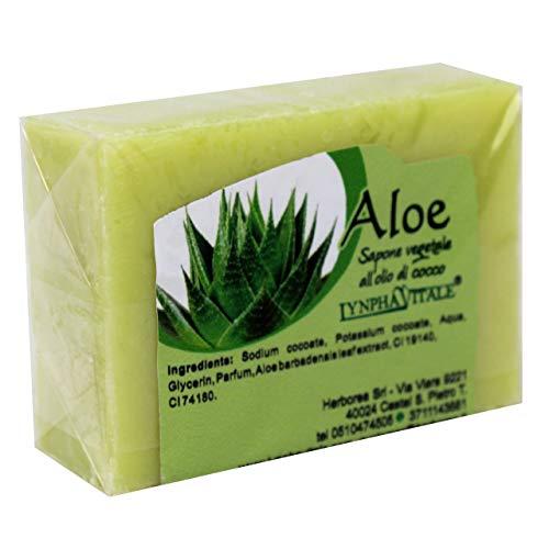 Savon à l'Aloès - Savon artisanal, naturel, travaillé à froid - Idéal pour les femmes, les hommes et les enfants - 100 gr