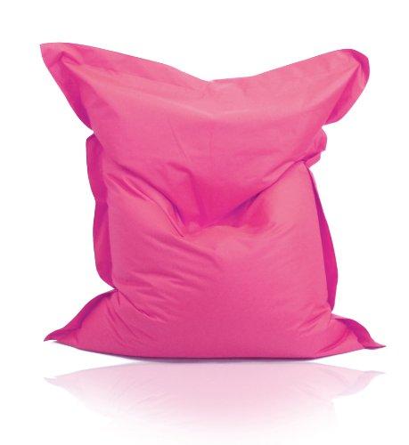Kinzler S-10026/12 XXL Riesensitzsack, 140x180 cm, Sitzsack Outdoor Indoor, in vielen verschiedenen Farben, mit Innensack, pink