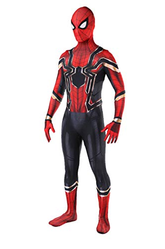 Iron Spider Costume for Kids Halloween Superhero Man Costume for Boys 4-6,GT110