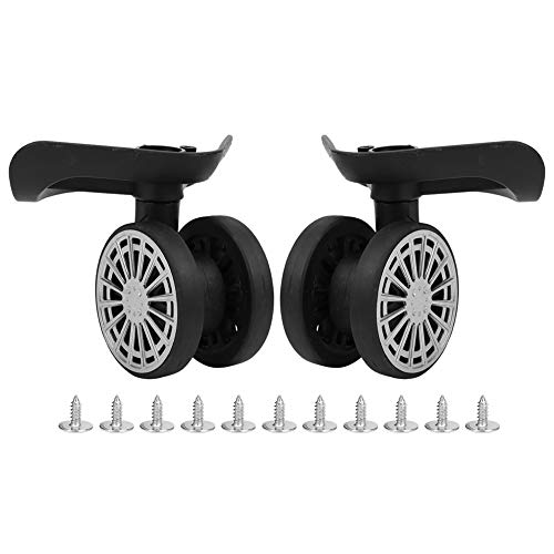 Keenso 2 Pcs Bearing Wheel Luggage Suitcase Replacement Wheels Suitcase Caster Replacement Black