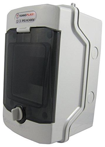Sicherungskasten Aufputz IP65 Feuchtraum Gehäuse Verteiler Kleinverteiler 2 reihig 24 Module (1-reihig 4 Module)