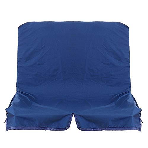 Cubierta de toldo oscilante, 2/3 plazas reemplazo de Dosel Columpio Hamaca Asiento Libre Sofá Cubre Sillas Silla de jardín Banco Azul Negro para Brillo y Sombra adecuados para el Sol