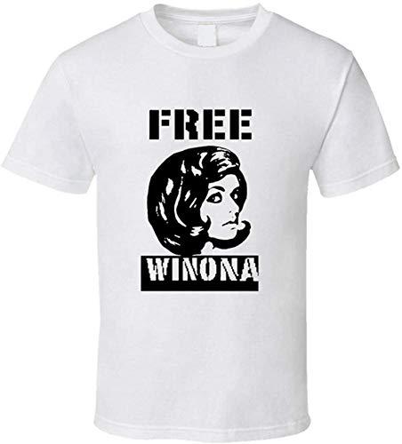 kdhgo Free Winona t-Shirt Funny Retro Winona Ryder Arrest Still Cool Today!