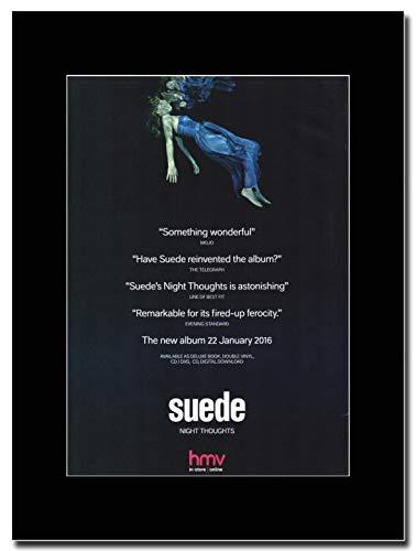gasolinerainbows - Suede - Night Thoughts - Rivista Opera d'Arte Promozionale su Un Supporto Nero - Matted Mounted Magazine Promotional Artwork on a Black Mount