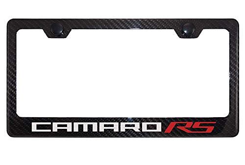 Lavnox Carbon Fiber Metal Camaro RS License Plate Frame Tag Holder Mount for Chevy Camaro (1)