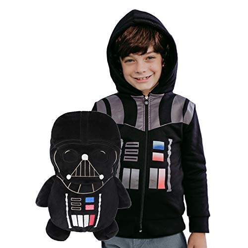 Cubcoats Star Wars Darth Vader 2 in 1 Transforming Classic Zip Up & Soft Plushie, Black