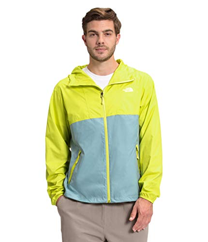 The North Face Men's Cyclone Jacket, Sulphur Spring Green/Tourmaline Blue, S