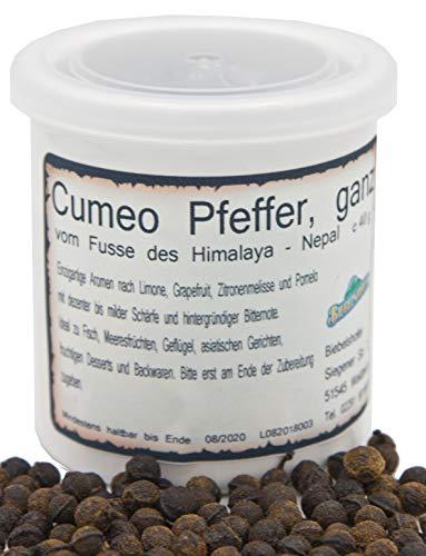 Cumeo Pfeffer aus Nepal, 40 g, in Keramik-Vorratsdose, Pfeffer-Spezialität inkl. Keramikdose