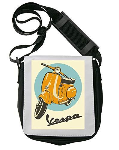Vespa Yellow Scooter Poster Schultertasche Herren Umhängetaschen Damen Taschen Unisex Shoulder Bag
