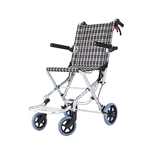 Sillas de ruedas plegables para adultos, Silla de transporte con reposapiés, Apoyabrazos de longitud completa y abatible Silla con ruedas portátil para viajes al aire libre ( Color : 34.6*29.1*20.5' )