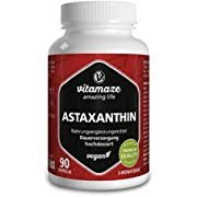 Astaxantina Capsule ad Alto Dosaggio e Vegan, 4 mg di Pura Astaxantina Naturale in Polvere dalle Alghe, 90 Capsule per 3 Mesi, Integratore Alimentare senza Additivi