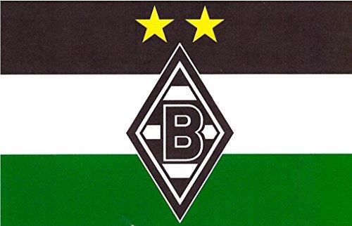 Unbekannt VFL Borussia Mönchengladbach Herren Borussia Mönchengladbach-Fohlenelf-Artikel-Hissfahne Raute-250 x 150 cm Flagge, Mehrfarbig