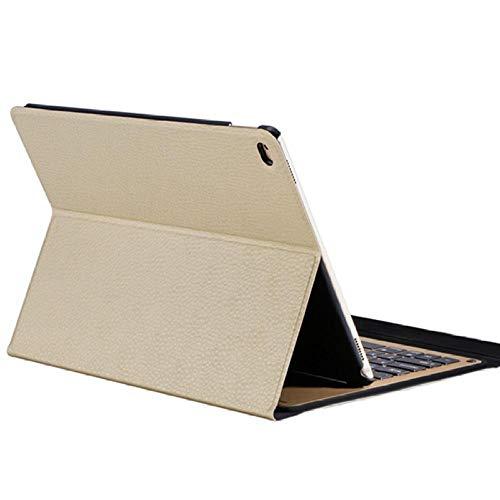 Zzyx Funda del Teclado de la Tableta para el iPad Air 2 Teclado inalámbrico Bluetooth para iPad Air 2 Tablet Thuff Thin Aley Funda de aleación Funda de Soporte (Color : Gold)