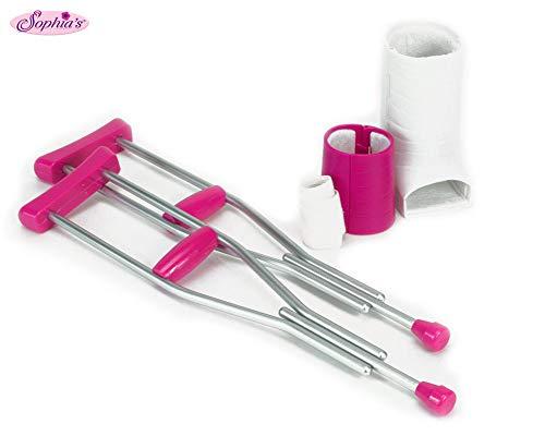 Sophia's Doll Crutches, Cast & Accessory Set for 18' Dolls, Doll Casts, Crutches & Bandage