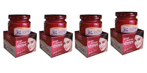 VI-JOHN Saffron Advanced Fairness Cream (50g) - Pack of 4