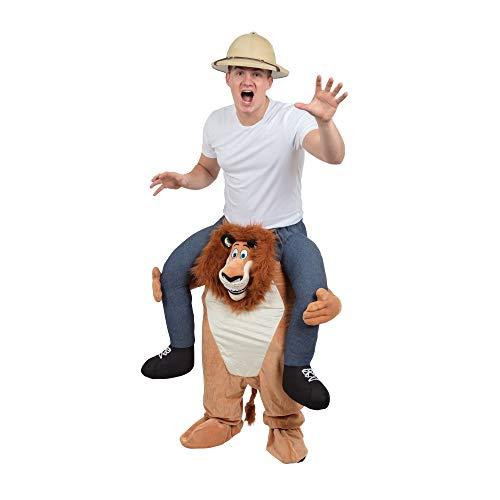 Bristol Novelty - Disfraz ridículo de León llevando persona a los hombros