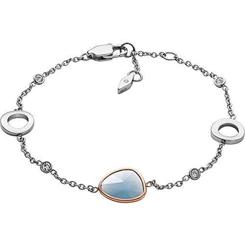 Fossil Damen-Kettenarmband Edelstahl Glas JF03075998 | Schmuck > Armbänder > Armketten | Fossil