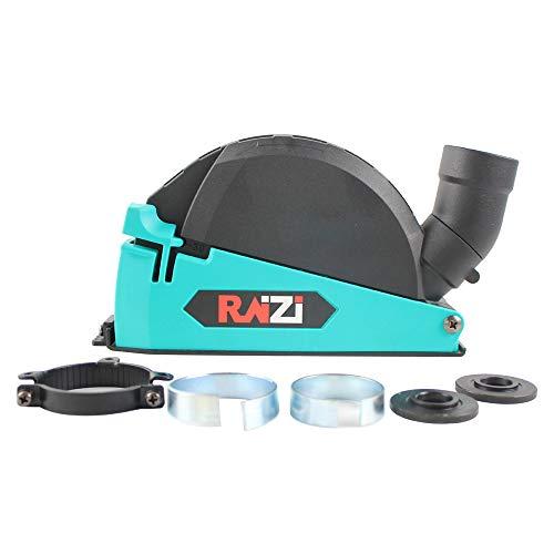 Raizi - Protector de polvo universal de corte de superficie para amoladora angular de 4 a 1/2 pulgadas a 5 pulgadas, herramienta de cubierta para colector de polvo