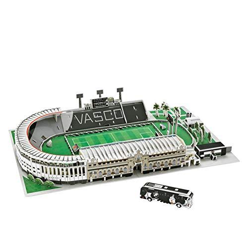 SDBRKYH Stadio di Modello di Puzzle, Club De Regatas Vasco da Gama Stadio Modello commemorativo Regalo Fan