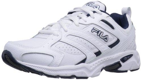 Fila Men's Capture Running Shoe,White/Peacoat/Metallic Silver,8 W US