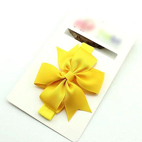 Fashion Bowknot design bandeau accessoire de cheveux mignon pour bébé fille(Yellow)