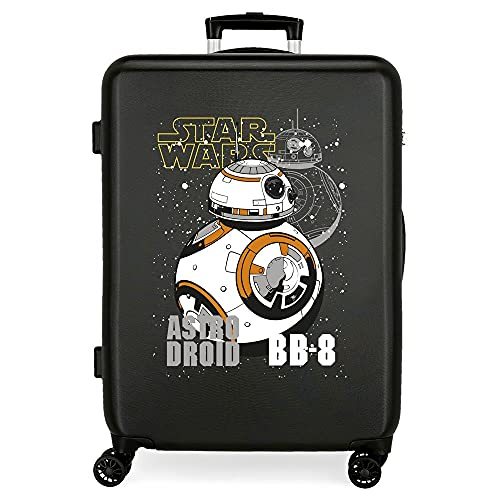 Star Wars Droids Maleta Mediana Negro 48x68x26 cms Rígida ABS Cierre de combinación Lateral 70 3 kgs 4 Ruedas Dobles
