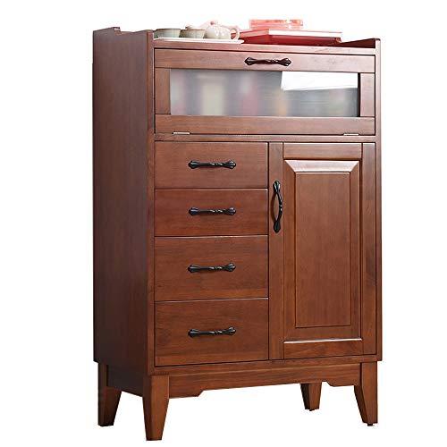 KCCCC Gabinete del aparador Madera Accent Buffet aparador Sirviendo Armario con Puertas de Entrada Cocina Comedor Consola Comedor (Color : Brown, Size : 67x35x103cm)