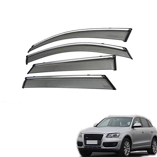 , Für Audi Q5 2010 2011 2012 2013 2013 2014 2015 2016 2017 2017 2018 Autotür Rauchfenster Sonne Regen Visier Windabweiser Schutz