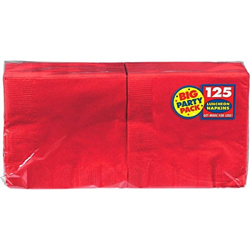 Apple Red Luncheon Napkins Big Party Pack, 125 Ct.