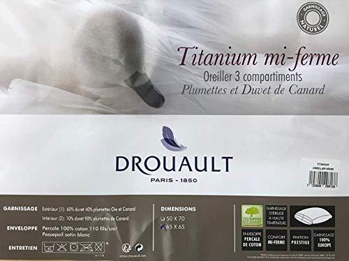 DROUAULT Oreiller Titanium mi Ferme 65x65