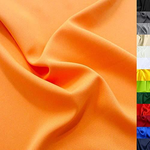 Modestoff / Dekostoff universal Stoff ALLROUND knitterarm - Meterware am Stück (Orange)