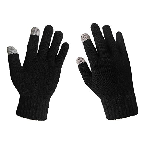 women's solid magic knit gloves with touchscreen fingers