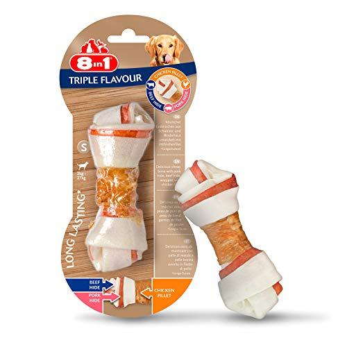 8in1 Triple Flavour Os à mâcher enveloppés dans un filet de poulet, S