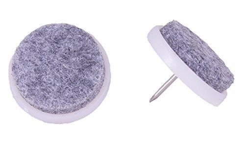 Connex Filzgleiter mit Stift Durchmesser 28 weiß / grau 16 Stück, DY200788