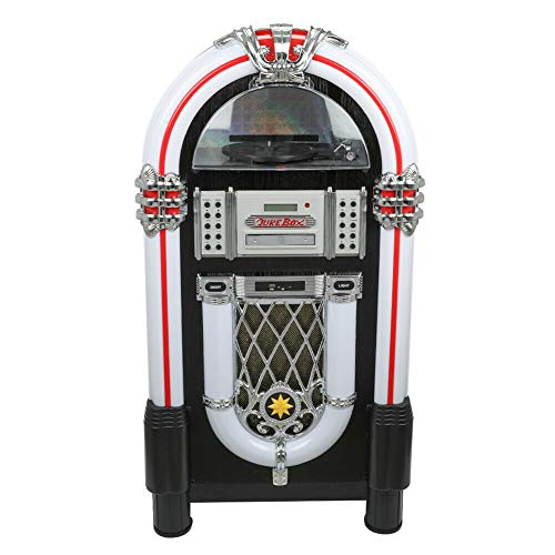 Vinyl Jukebox Turntable, CD, USB/SD,Radio,Bluetooth CD Player